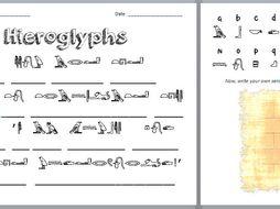 Ancient Egyptian Hieroglyphics - Coded Message Activity