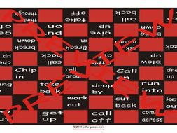 Phrasal Verbs #2 Checker Board Game