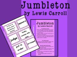Poetry Lesson Plan and Worksheets (Jumbleton by Lewis Carroll)
