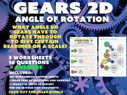 MATHS /PHYSICS - GEARS 2D - ANGLE OF ROTATION
