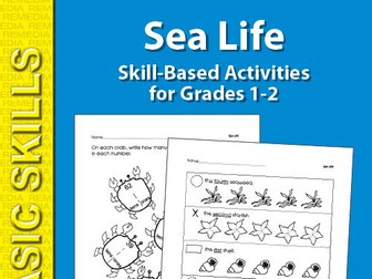Sea Life: Thematic Skill-Based Activities for Grades 1-2