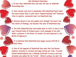 Valentine's Day and Heart Factoids(Interactive Notebook Activity)