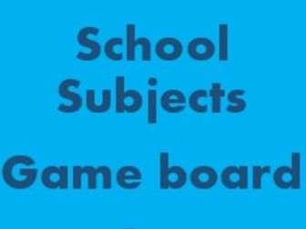 School Subjects Game board for Smartboard