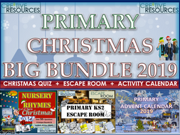 Primary Christmas 2019 End of Term BUNDLE