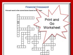 Finance Vocabulary Crossword Puzzle with Answers - ESL