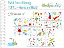 SNAB Biology Topic 2: Genes and Health - Card Game