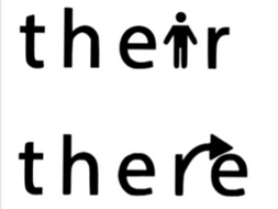 Spellings: To, two and too + There, their and they're