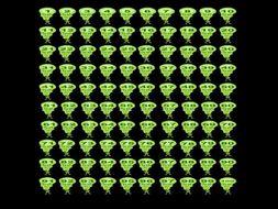 Alien 100 square - interactive flash