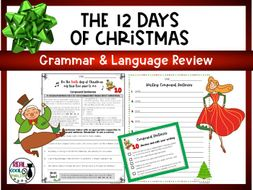 Christmas Grammar Review | 12 Days of Christmas Grammar and Writing Activities