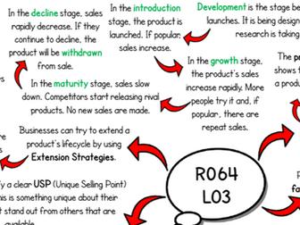 R064 - LO3 Revision Mind Map (Cambridge National in Enterprise & Marketing J819)