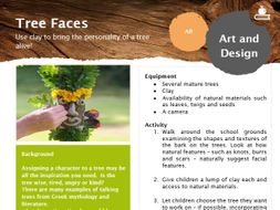 Tree faces - outdoor learning lesson