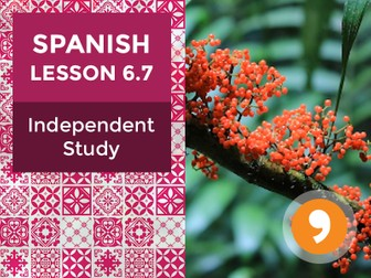 Spanish Lesson 6.7: La Naturaleza - Independent Study