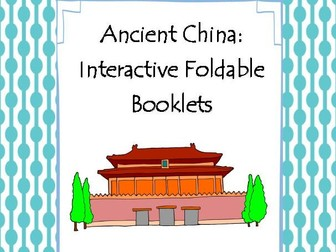 Ancient China Interactive Foldable Booklets