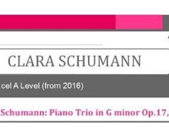 Edexcel A Level Music (2016-) Clara Schumann More Wider Listening