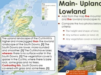 2017-2018 Year 11 OCR B Revision 6) Upland and Lowland Revision for Topic Test