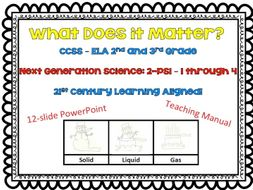 What Does it Matter – NGSS Lesson 1-PS-1 through 4