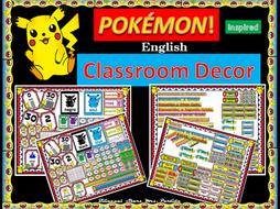 Pokemon POKÉMON Classroom Decor Mega BUNDLE Englsih Bilingual Stars Mrs. Partida