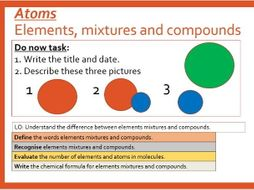Elements Compounds and Mixtures. (OFSTED Lesson observation)