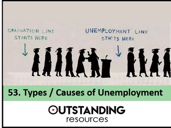 Economics: Lesson 53 - Types and Causes of Unemployment (+ resources)