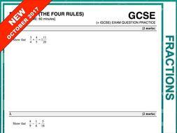 GCSE 9-1 Exam Question Practice (Fractions)