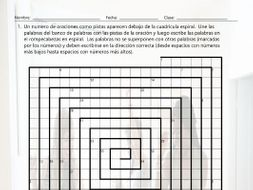 Past Simple with Verbs Estar and Ser Word Spiral Spanish Worksheet ...