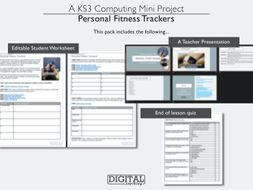 Personal Fitness Trackers: Computing, ICT or Computer Science Lesson (Single or Cover, KS3 or KS4)