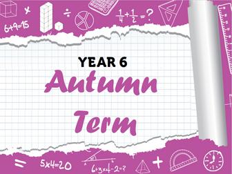 Year 6 - Full Autumn Term