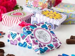 Mother's Day Gift Box Templates (6 Pack) | 6 Printable PDF gift box templates to color and make