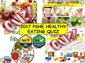 New Year -  Fast food and Healthy Eating-  PSHE  Quiz - 7 rounds and over 40 Questions. PSHE