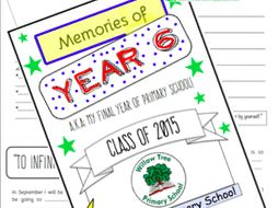 Year 6 Leavers Memory Work Book End Of Transition Plus Free Certificate Templates By Teachersarchive Teaching Resources Tes