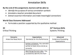 Annotation Skills Activity Pack