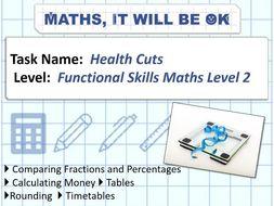 FS Maths Level 2 Health Cuts Exam Style