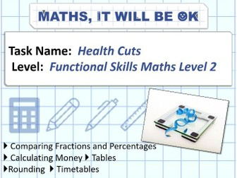 FS Maths Level 2 Health Cuts Exam Style