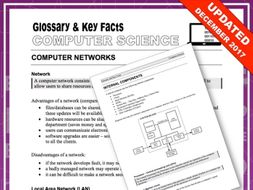 Glossary and Key Facts for Computer Science (Part 1)
