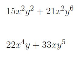 Factoring multivariable expressions worksheet (with solutions)