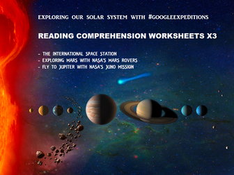 Reading Comprehension Worksheets - Space Exploration #GoogleExpeditions (save 50%)