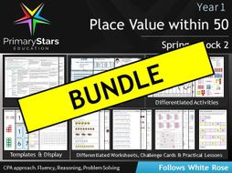 YEAR 1 - Place Value (within 50) - White Rose - COMPLETE Block 2 - Spring BUNDLE