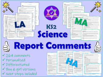 Science Report Comments