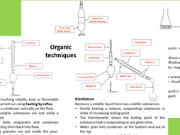 Organic techniques - purifying organic liquids