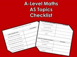 A-Level Maths (2017) Statistics Topics Checklist