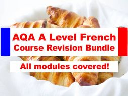 AQA A Level French Course Revision Bundle