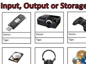 Input, Output or Storage?