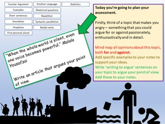Assessment Planning - Writing to Argue