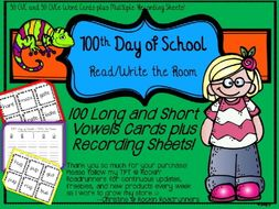 100th Day of School Read and Write the Room