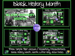 Black History Month: Presentations