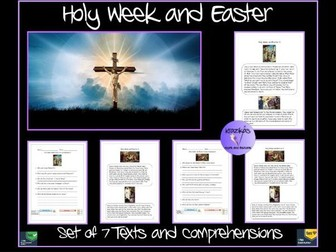 Easter and Holy Week Texts and Comprehensions