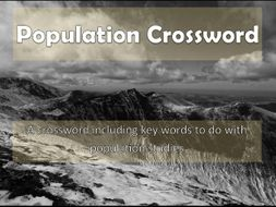 Population Crossword