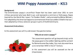 WWI Poppy Assessment
