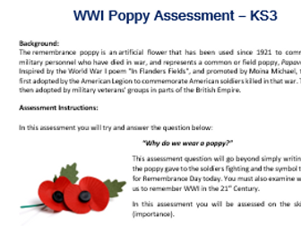 WWI Poppy Assessment