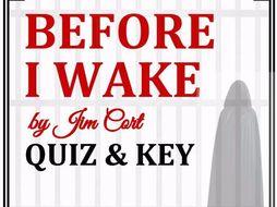 """Before I Wake"" by Jim Cort - Quiz & Key"